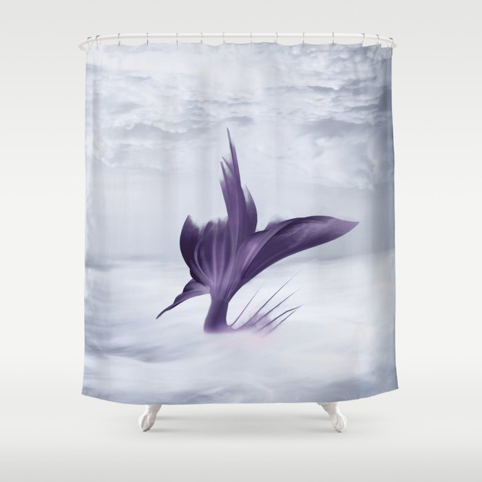 Mermaid Fantasy Ocean Seascape Shower Curtain