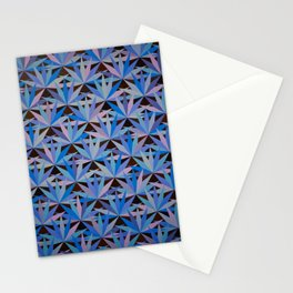 Blue Lotus Flower Tile Painting Stationery Cards