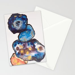 Abstract paintings, cells, rock Stationery Cards