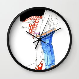 Nudegrafia - 006 fetish Wall Clock
