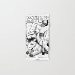 asc 997 - La peluche sagace (Consulting with the unicorn) Hand & Bath Towel