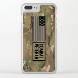 Combat Veteran (Camouflage) Clear iPhone Case