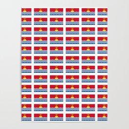 flag of kiribati - Gilbertese,I-Kiribati,Gilberts,Kingsmills,pacific,Tarawa Poster
