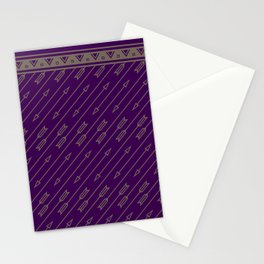 Arrows Flying (Purple) Stationery Cards