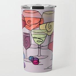 Wine and Grapes v2 Travel Mug
