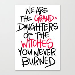 Grand Witches Canvas Print
