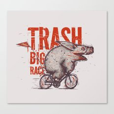 Trash BIG RACE Canvas Print