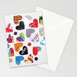 Heart Patterns Stationery Cards