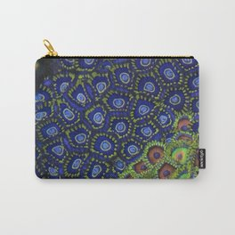 """Macro of Coral Zoanthus """"Blue Hornet"""" Carry-All Pouch"""