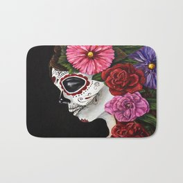 Sugar Skull- The Day of the Dead Bath Mat