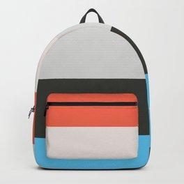 Orange Blue Color block Backpack