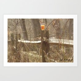 (ps not numbered) tall. yardwork? so drink as you work Art Print