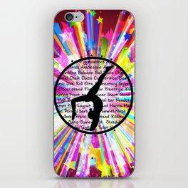 rainbow star gymnast iPhone Skin