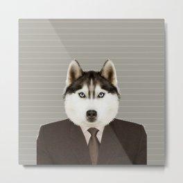 Husky Man Metal Print
