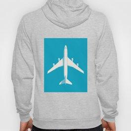 747 Jumbo Jet Airliner Aircraft - Cyan Hoody