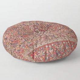 Kashan  Antique Persian Rug Floor Pillow
