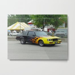 1987 Grand National with flames Metal Print