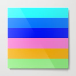 Mixed colors colorful stripes . Metal Print