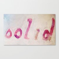 solid Canvas Prints featuring Solid by ThankYouWare