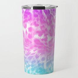 Leopard Print Rainbow Travel Mug