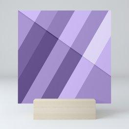Ultra violet purple modern geometric lines Mini Art Print