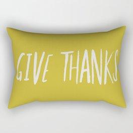 Give Thanks x Mustard Rectangular Pillow