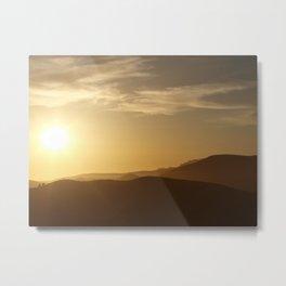 Marin Headlands Sunny Hills Metal Print
