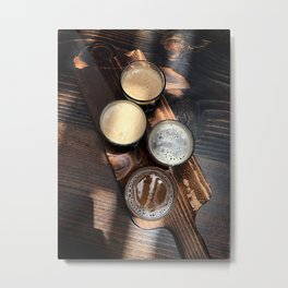 Flight of Beer Metal Print