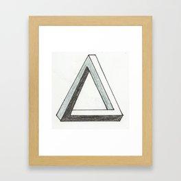 Penrose Triangle Framed Art Print