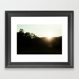 Into The Valley Framed Art Print