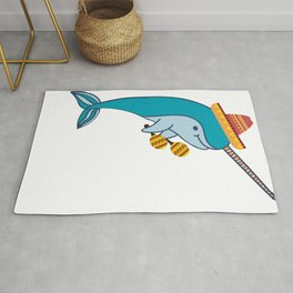 Cinco de mayo Narwhal funny Narway Jose for women Rug