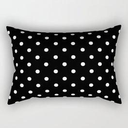 DOTS (WHITE & BLACK) Rectangular Pillow