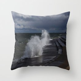 A Gale to Blow Out the Year (Chicago Waves Collection) Throw Pillow