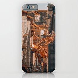 Croatia Rooftops - Summer in Europe | Dubrovnik Croatia | Fine Art Travel Photography Photo Print iPhone Case