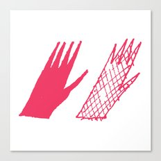 Hand and glove Canvas Print