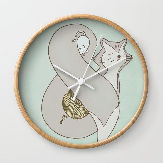 Catpersand Wall Clock