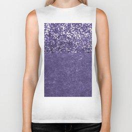 Ultra Violet Glitter Meets Ultra Violet Concrete #1 #decor #art #society6 Biker Tank