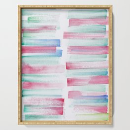 17 | 181101 Watercolour Palette Abstract Art | Lines | Stripes | Serving Tray
