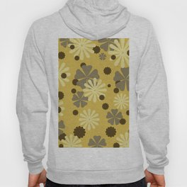 Brown yellow Flower pattern design Hoody