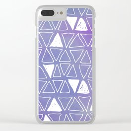 Tribal Watercolours - in Ultra Violet Clear iPhone Case
