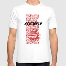 Global Society SMALL White Mens Fitted Tee