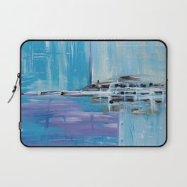 Light Blue Abstract Laptop Sleeve