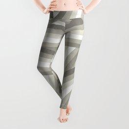 Retro Beige/Greige Stripe Pattern Leggings