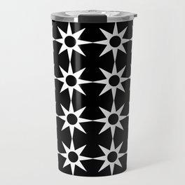 Stars 43- Black and white Travel Mug