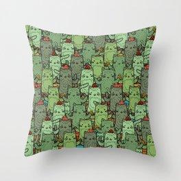 Catcus Garden Throw Pillow