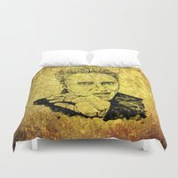 christopher walken Duvet Covers featuring Christopher by Rabassa
