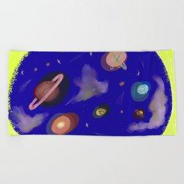 Space Story Beach Towel