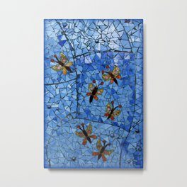 Butterfly Mosaic Metal Print