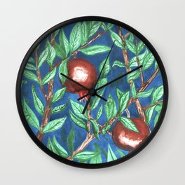 Pomegranate Paradise Wall Clock