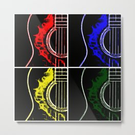 Pop Art Guitars Metal Print